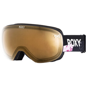Roxy Popscreen Snowboard Goggles Women, true black blooming party